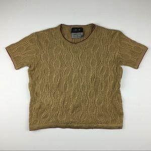 Coogi Australia Basics XL Short Sleeve Sweater